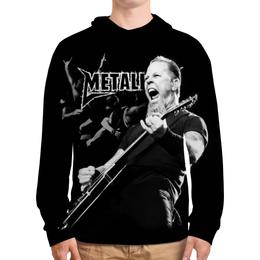 """Толстовка с полной запечаткой """"Metallica"""" - metallica, металлика, метал, рок, группы"""