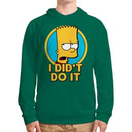"""Толстовка с полной запечаткой (Мужская) """"Барт Симпсон. Я этого не делал"""" - simpsons, прикольные, bart, барт симпсон, симпспоны"""