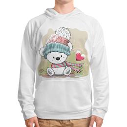 """Толстовка с полной запечаткой """"Медвежонок"""" - юмор, зима, рисунок, мультяшка, медвежонок"""