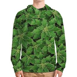 """Толстовка с полной запечаткой (Мужская) """"Зеленые листья"""" - цветы, растение, лист, природа, куст"""