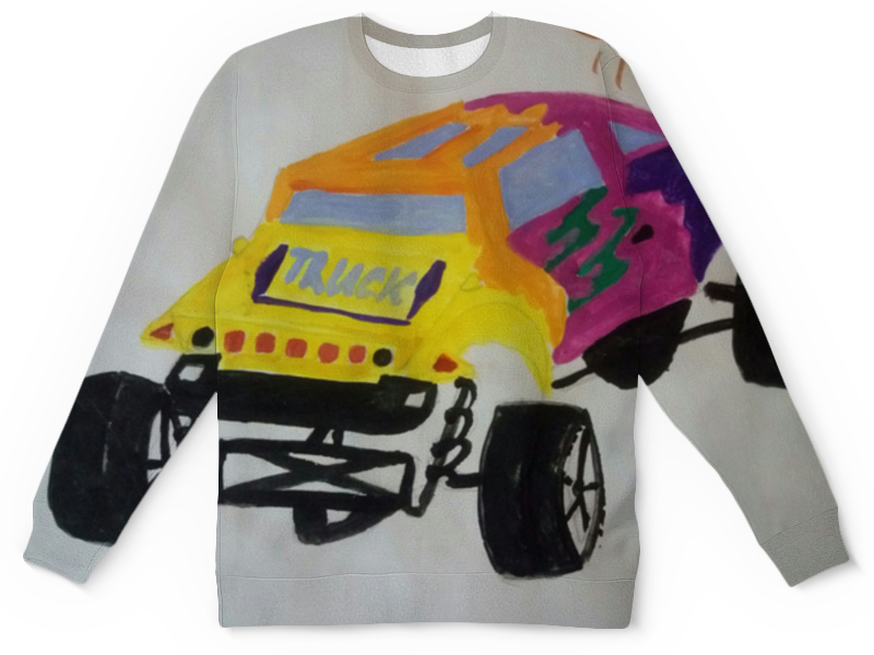 Детский свитшот унисекс Printio Гоночная машинка