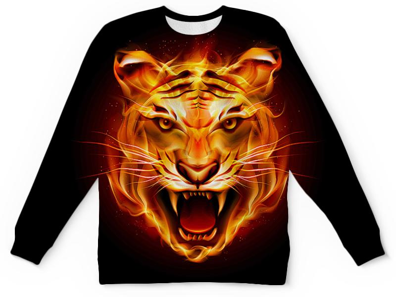 Printio Тигры фэнтези свитшот унисекс хлопковый printio тигры