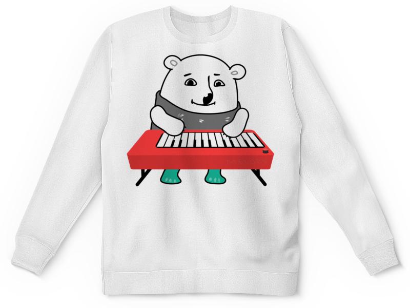 Детский свитшот унисекс Printio Медвежонок играет музыку. медвежонок шарик