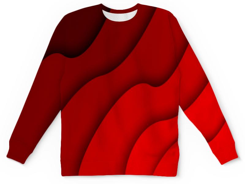 Детский свитшот унисекс Printio Красные волны