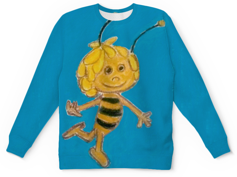 Детский свитшот унисекс Printio Пчелка ранец детский пчелка оранжевый de 0184 page 3