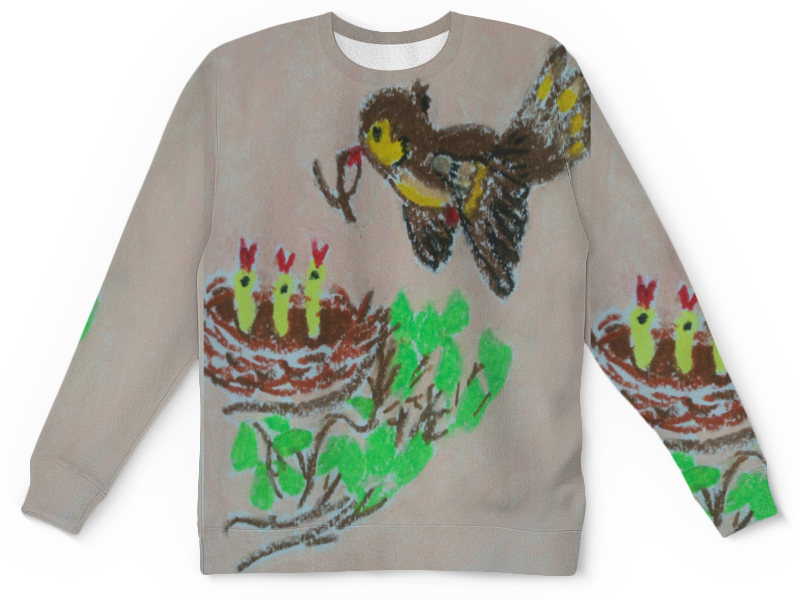 Детский свитшот унисекс Printio Птичка