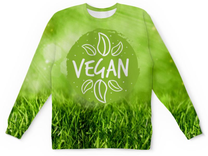 Детский свитшот унисекс Printio Go vegan! свитшот print bar go vegan