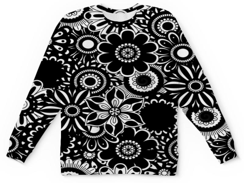 Детский свитшот унисекс Printio Черно-белые цветы детский свитшот унисекс printio белые медведи