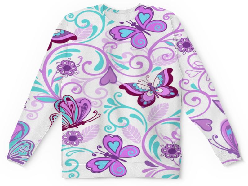 Детский свитшот унисекс Printio Цветные бабочки часы цветные бабочки mitya veselkov часы цветные бабочки