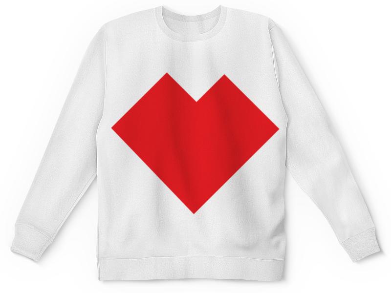 Детский свитшот унисекс Printio Красное сердце танграм