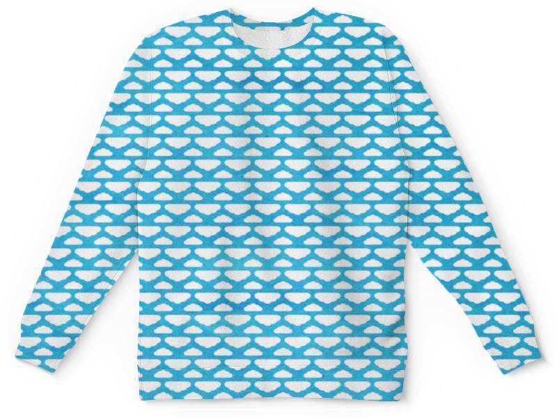 Детский свитшот унисекс Printio Бело-голубой узор пазл 1000 элементов hatber город мечты