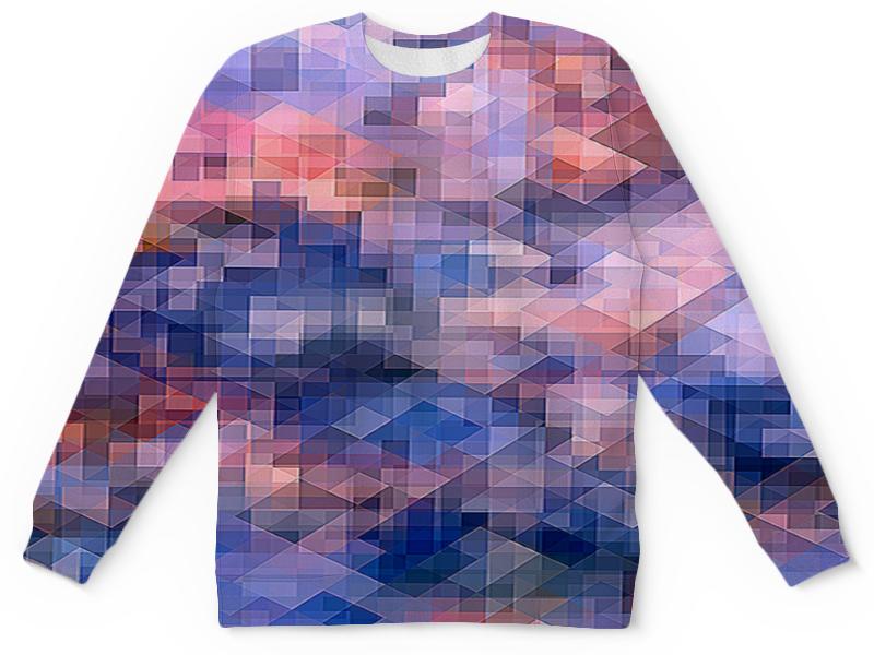 Детский свитшот унисекс Printio Пиксель-арт. сине-розовый паттерн борцовка с полной запечаткой printio пиксель арт сине розовый паттерн