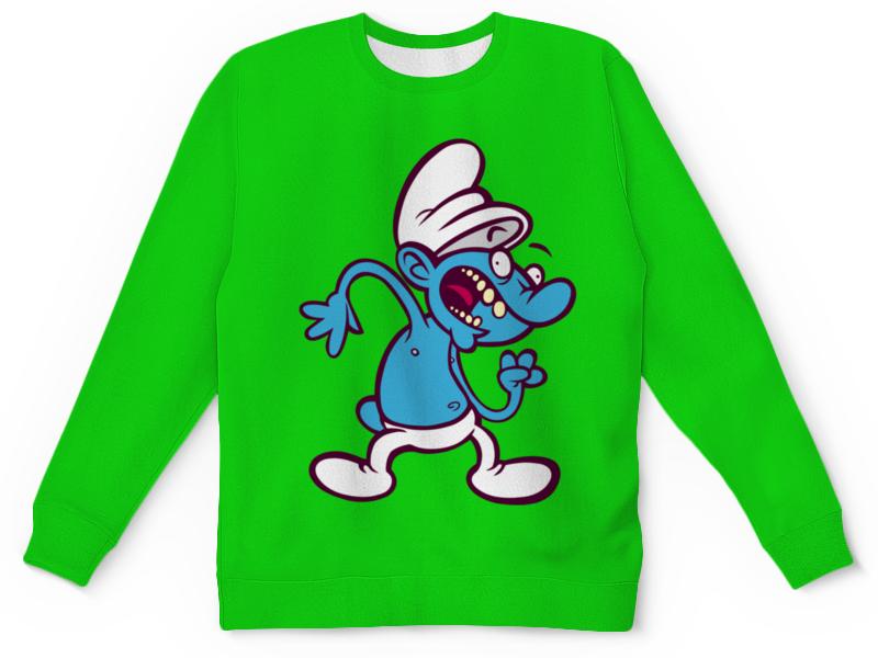 Детский свитшот унисекс Printio Смурфики ( the smurfs ) the smurfs воздушный змей смурфетта фея смурфики