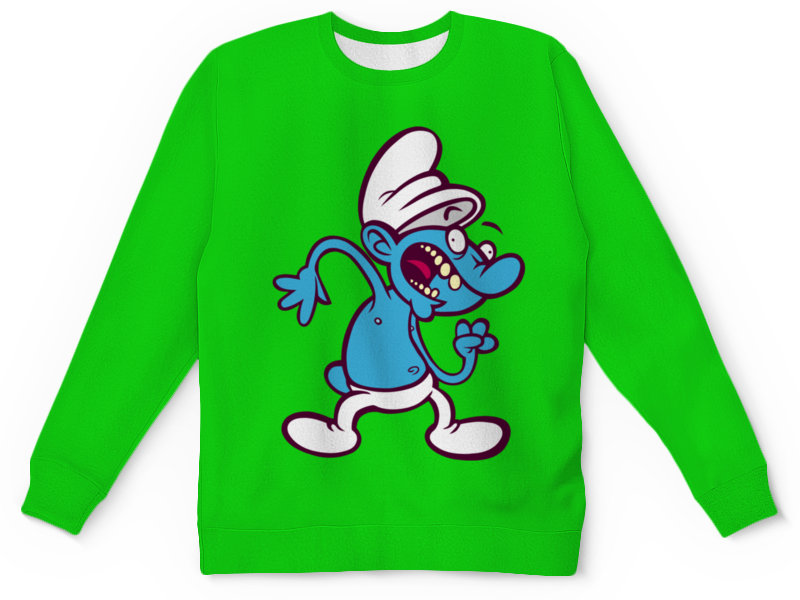 Детский свитшот унисекс Printio Смурфики ( the smurfs )