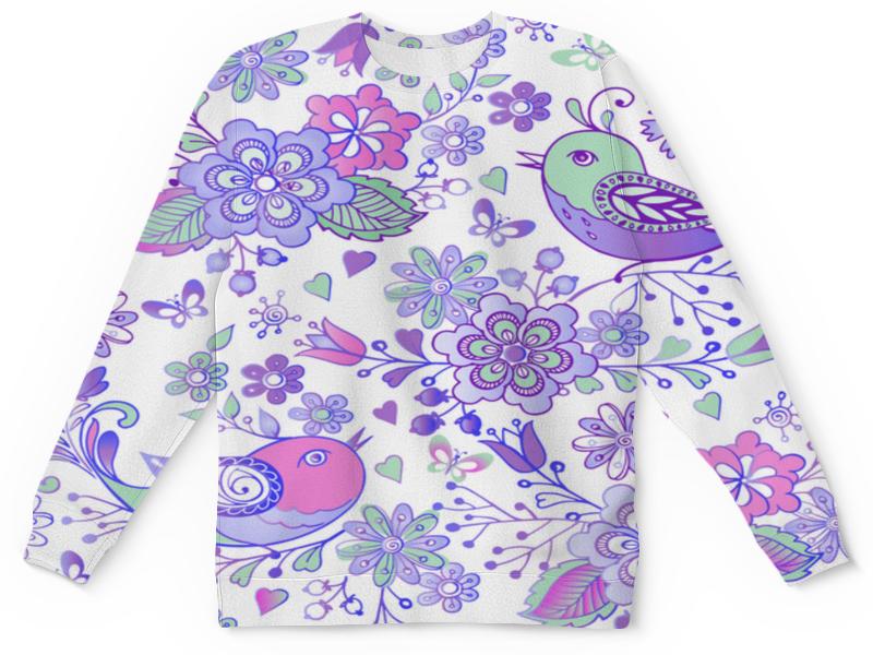 Детский свитшот унисекс Printio Птицы и цветы платье без рукавов print bar цветы и птицы