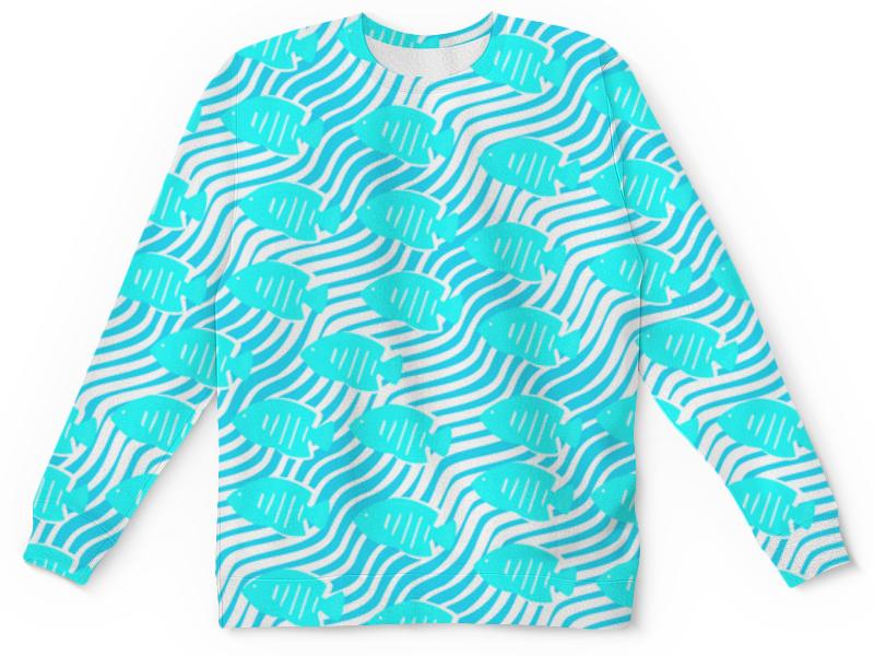 Детский свитшот унисекс Printio Тропические рыбки наборы для поделок дрофа медиа мерцающий песок тропические рыбки