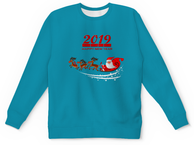 Детский свитшот унисекс Printio Дед мороз украшение новогоднее оконное magic time дед мороз с самоваром двустороннее 30 х 32 см