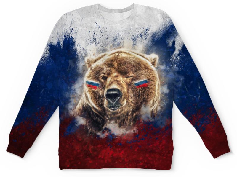 Детский свитшот унисекс Printio Русский медведь цена и фото