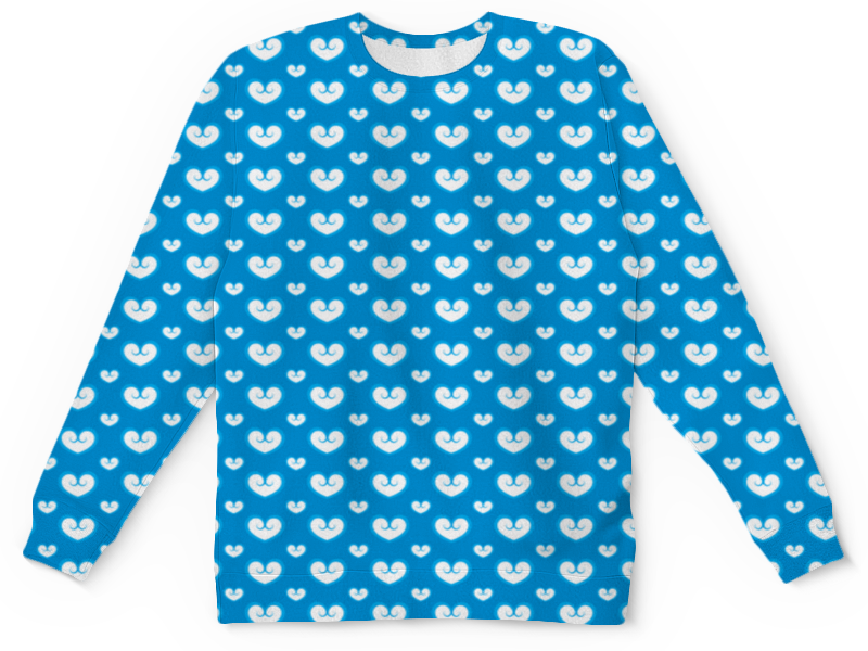 Детский свитшот унисекс Printio Белые сердечки детский костюм озорного клоуна 34