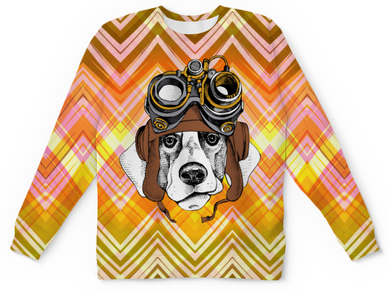 Printio Пес летчик футболка с полной запечаткой для девочек printio пес летчик
