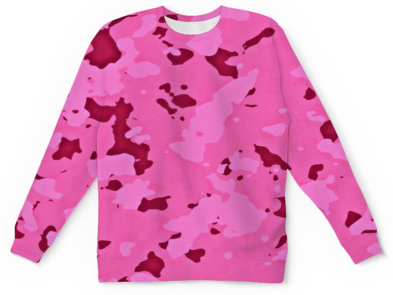 Детский свитшот унисекс Printio Розовый камуфляж