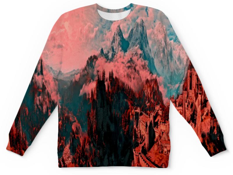 Детский свитшот унисекс Printio Крепость в горах цена