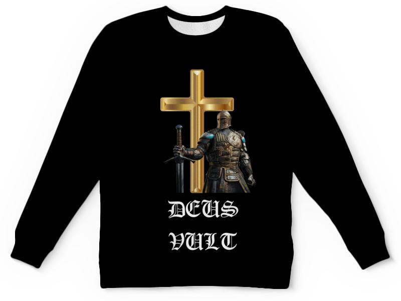 Детский свитшот унисекс Printio Deus vult. крестоносцы чехол для samsung galaxy note 2 printio deus vult крестоносцы