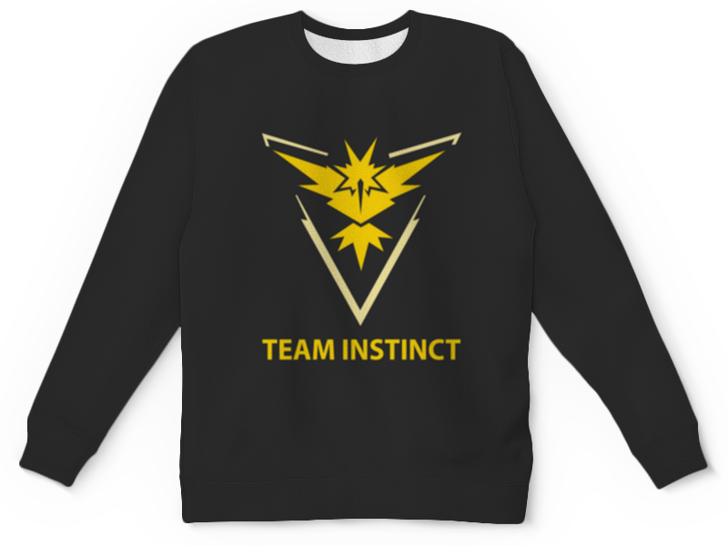Детский свитшот унисекс Printio Team instinct свитшот print bar pokemon go instinct team