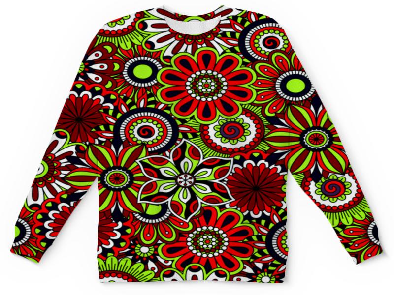 Детский свитшот унисекс Printio Узор цветов цена и фото