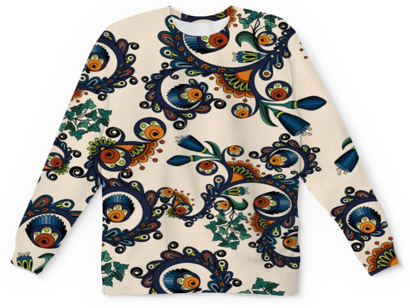 Детский свитшот унисекс Printio Плетение цветов детский костюм озорного клоуна 34
