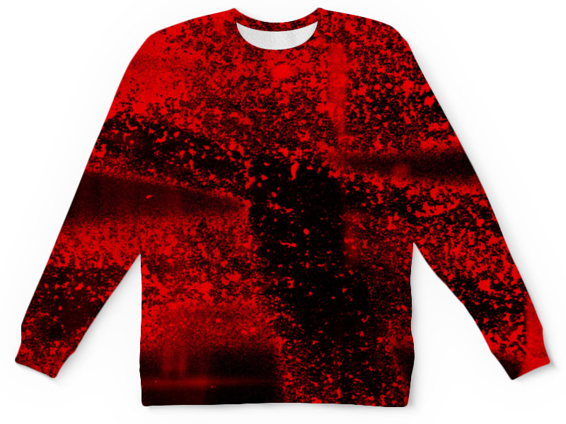 Детский свитшот унисекс Printio Красные брызги цены