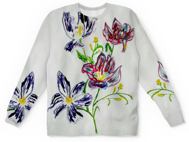 Детский свитшот унисекс Printio Лиловые цветы