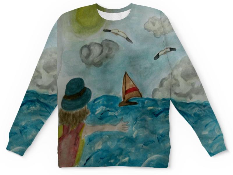 Детский свитшот унисекс Printio Море. облака. парус. прихожая парус