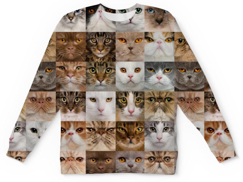 Детский свитшот унисекс Printio Кошки свитшот print bar взгляд кошки