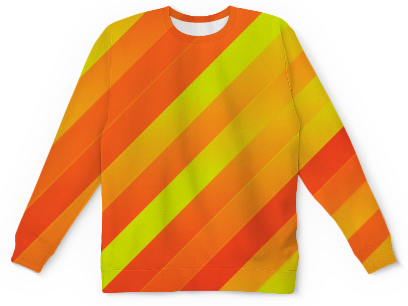 Детский свитшот унисекс Printio Желто-оранжевые линии