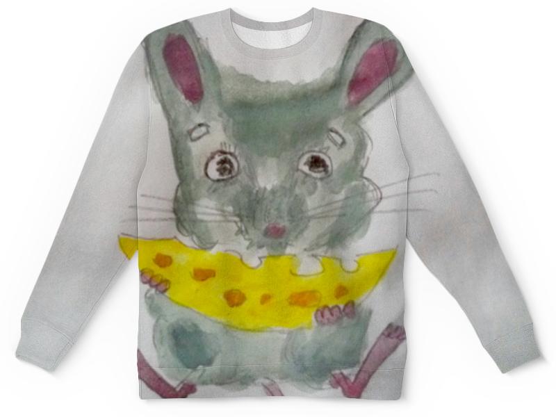 Детский свитшот унисекс Printio Мышка с сыром chicco мышка с сыром и крекерами