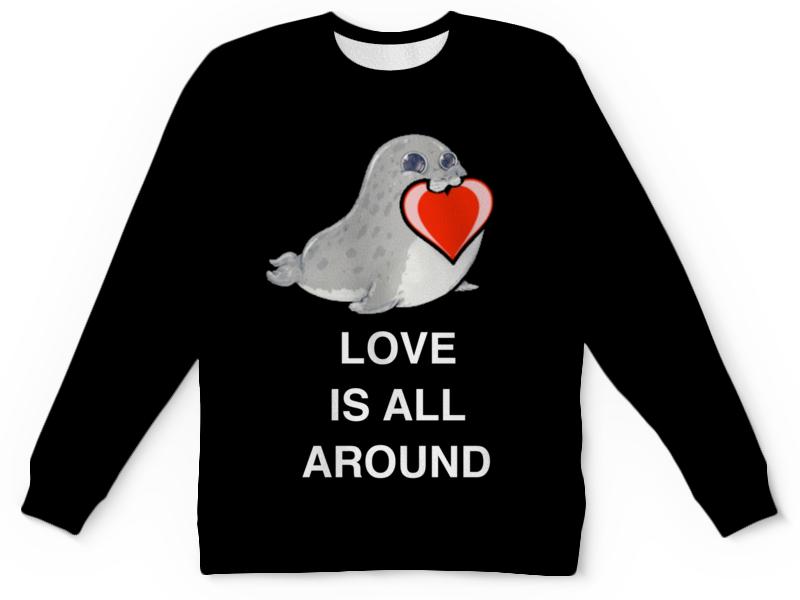 Детский свитшот унисекс Printio Love. тюлень. любовь. детский свитшот унисекс printio любовь