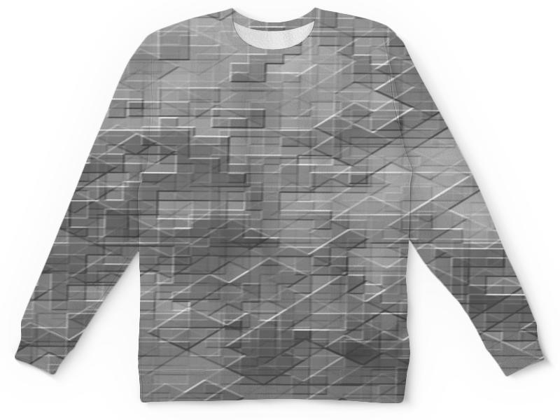 Детский свитшот унисекс Printio Пиксель-арт. черно-белый паттерн