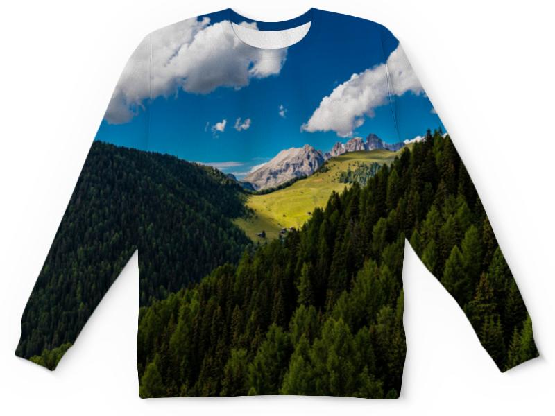 купить Детский свитшот унисекс Printio Лесной склон недорого