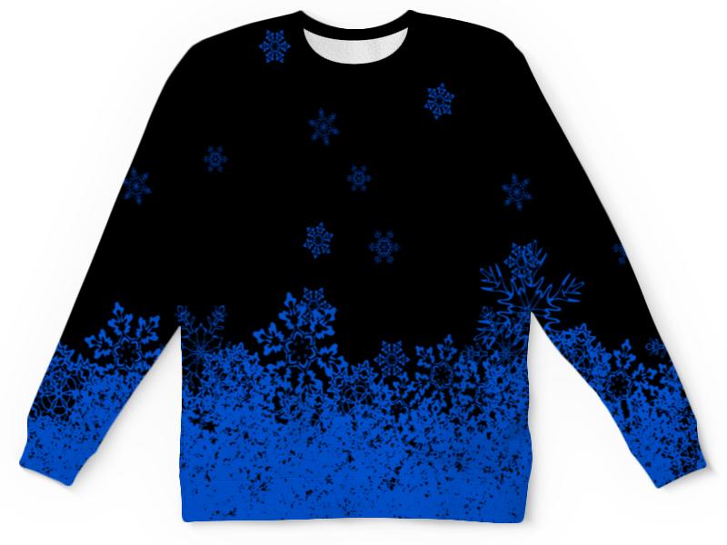 Детский свитшот унисекс Printio Синие снежинки детский костюм снежинки 28