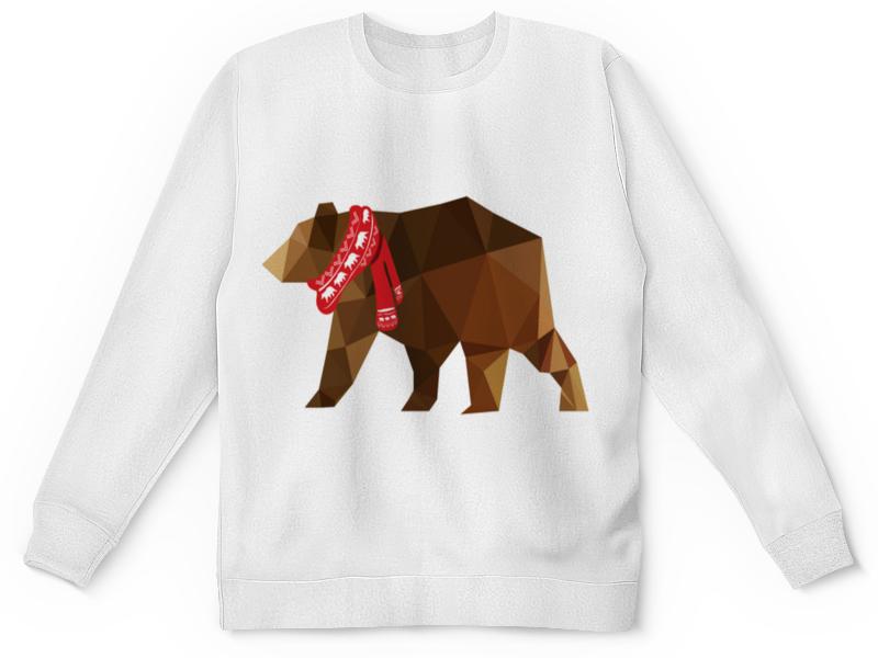 Детский свитшот унисекс Printio Медведь