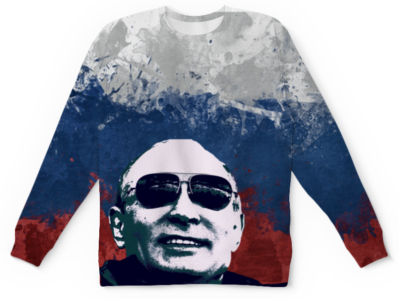 Детский свитшот унисекс Printio Путин
