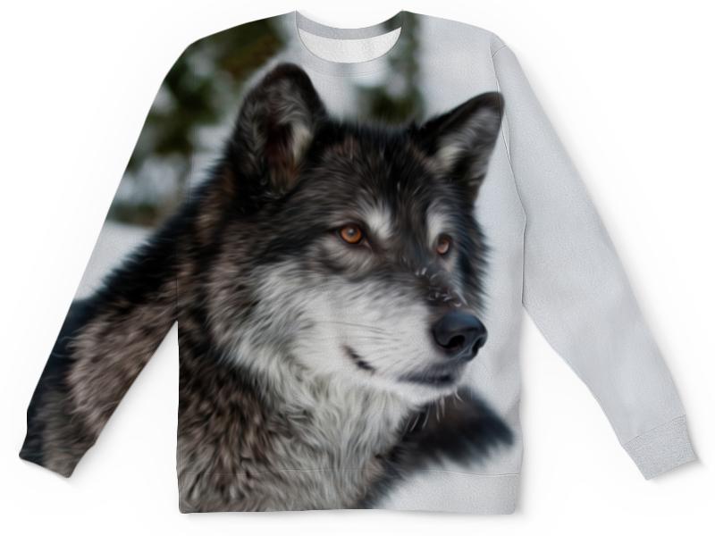 Детский свитшот унисекс Printio Серый волк