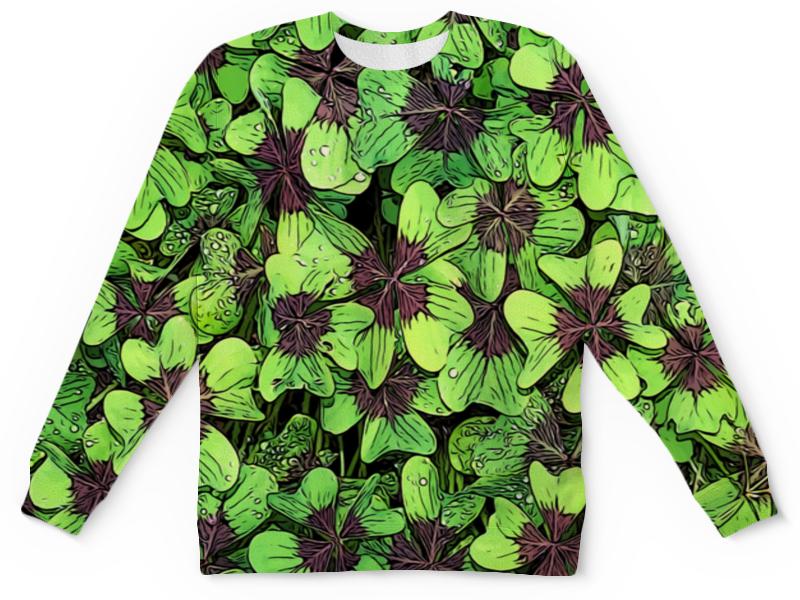 Детский свитшот унисекс Printio Зеленые цветы