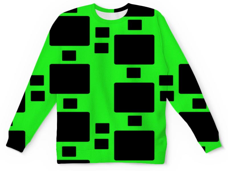 Детский свитшот унисекс Printio Черные квадраты