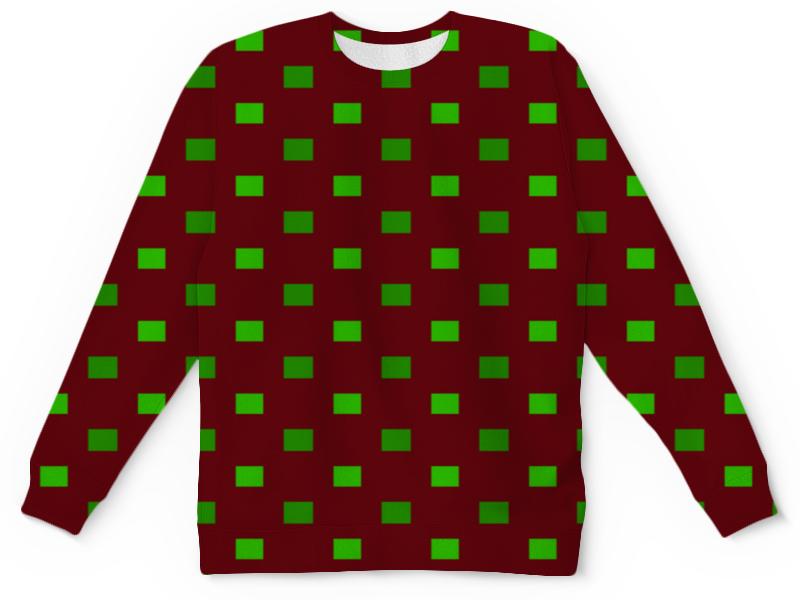 Детский свитшот унисекс Printio Зеленые квадраты