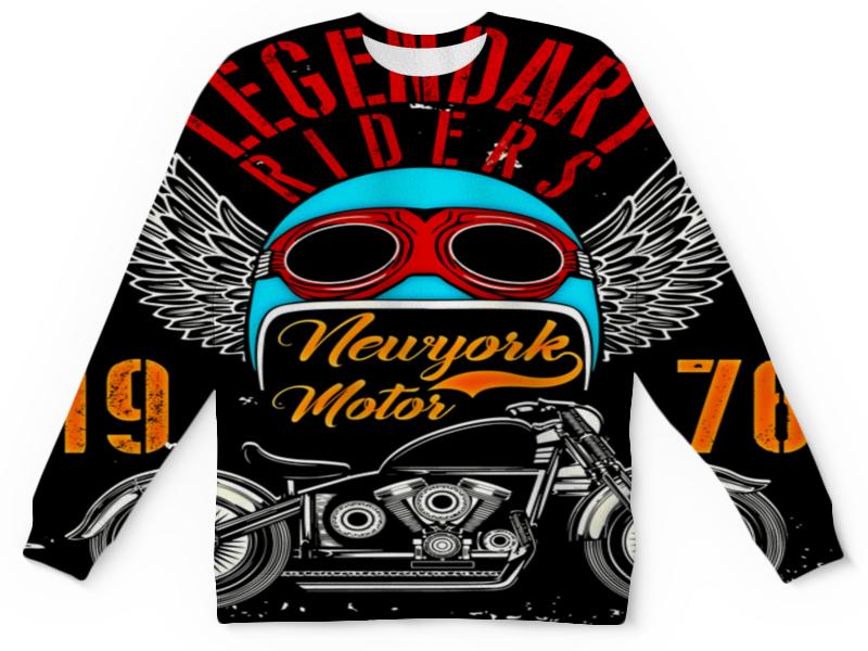 Детский свитшот унисекс Printio Legendary riders толстовка с полной запечаткой printio legendary riders