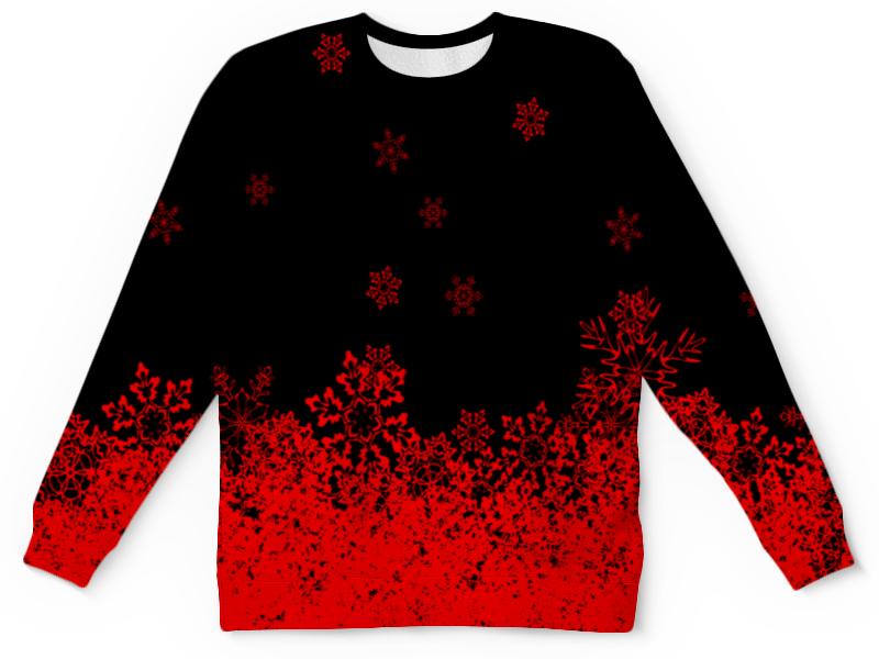 Детский свитшот унисекс Printio Красные снежинки детский костюм снежинки 28