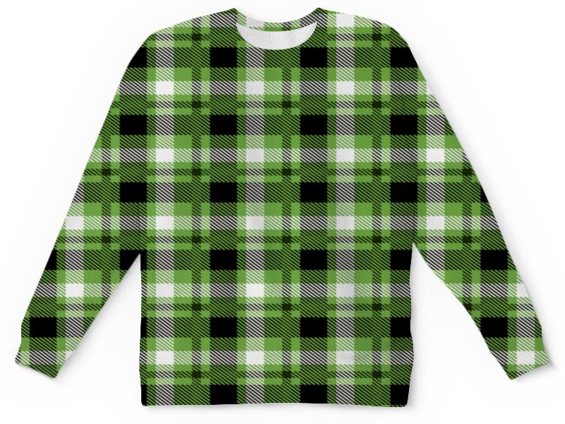 Детский свитшот унисекс Printio Зеленая клетка