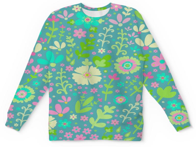 Детский свитшот унисекс Printio Цветочная полянка